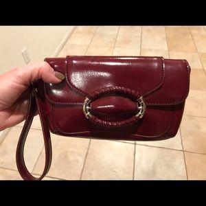 Ann Taylor Shoes - Women's Ann Taylor burgundy heels 7.5/clutch